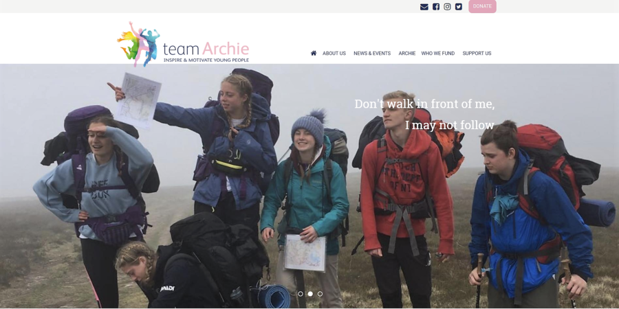 Website for The Archie Lloyd Charitable Foundation